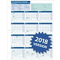 ComplyRight™ 2018 Attendance Calendar Card, White, Pack of 25
