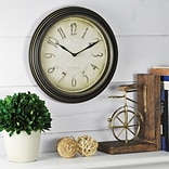 First Time® 9.75 Distressed Plastic Wall Clock