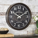 First Time® 12 Industrial Gears Wall Clock