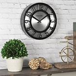 FirsTime® 8 Black on Steel Wall Clock