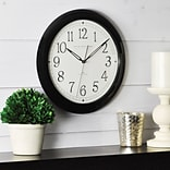 FirsTime® Black Whisper 11 Round Wall Clock, Black