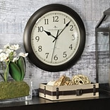 First Time® 11 Bronze Slim Wall Clock
