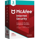 McAfee® Internet Security for 3 Devices (1-3 Users), Boxed (MIS00EST3RAA)