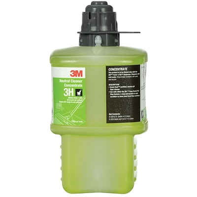 3M™ Twist N Fill™ Neutral Cleaner Concentrate 3H, Gray Cap, 2 Liter, 6/Case (3H)