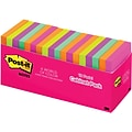 Post-it® Notes, 3 x 3, Cape Town Collection, 18 Pads/ Cabinet Pack (654-18CTCP)