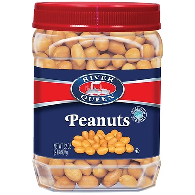 River Queen Salted Peanuts, 32 Oz.