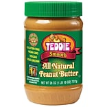Teddie Natural Smooth Peanut Butter, 26 Oz.