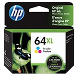 HP 64XL Tri-color Original Ink Cartridge, High Yield