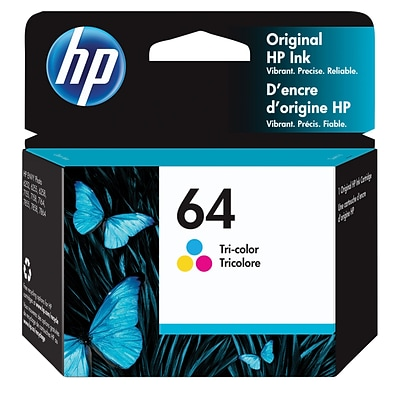HP 64 Tri-Color Original Ink Cartridge