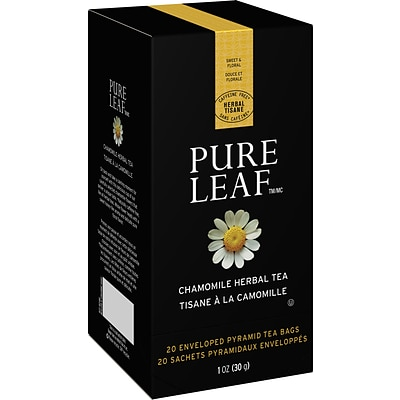 Pure Leaf Herbal Tea, Chamomile Hot Tea, 20/Box
