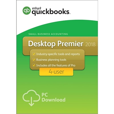 QuickBooks Desktop Premier 2018 4-User for Windows (1-4 Users) [Download]