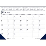 2018-2019 House of Doolittle Academic Desk Pad Calendar, Compact Blue/Gray, 18-1/2 x 13 (HOD-1556)