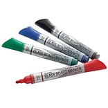 Quartet® Premium Glass Board Dry-Erase Markers, Bullet Tip, Assorted Colors, 4/Pk (79552)