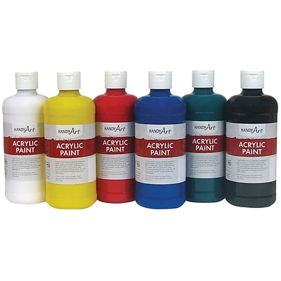 Handy Art Acrylic Paint 16oz 6 Set Student