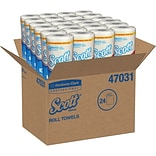 Scott Choose-a-Sheet Paper Towels, 1-Ply, Quick Absorbing Ridges, 102 Sheets/Roll, 24 Rolls/Case (47