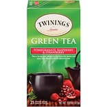Twinings® Green, Pomegranate, Raspberry & Strawberry Tea Bags, 25/Box