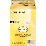 Twinings Lemon & Ginger Herbal Tea, Keurig K-Cup Pods, 24/Box (F11019)