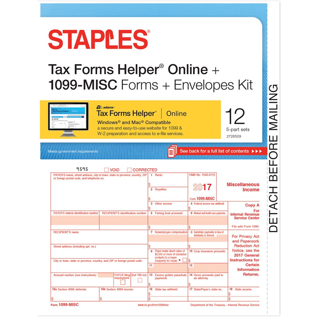 Staples 2017 tax forms 1099 misc ijlsr frms tfh online env this web site is intended only for use by us residents falaconquin