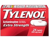 TYLENOL Pain Relief Extra Strength Caplets, 500 mg, 24 Count/Box (044905)