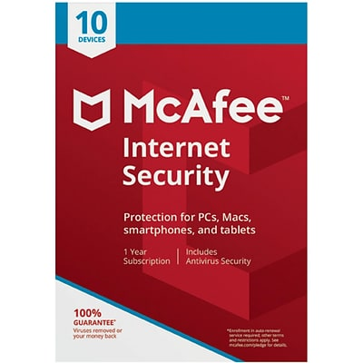 McAfee Internet Security 10 Device for Windows (1-10 Users) [Download]