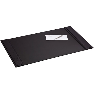 Dacasso 25.5x17.25 Desk Pad with Side Rails; Crocodile Embossed Top-Grain Leather, Black (DCSS170)