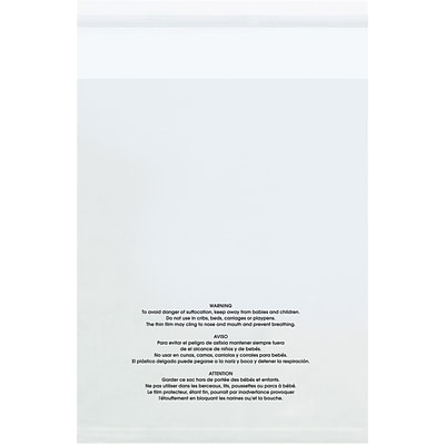 10W x 15L Reclosable Poly Bag, 1.5 Mil, 100/Carton (PMV101515100)