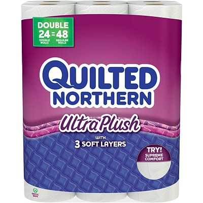 Quilted Northern Ultra Plush 24 Double Rolls Quill