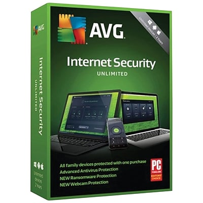 AVG Internet Security 2019, Unlimited 2 Years (X8HWFHNJB96PKCC)