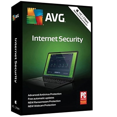 AVG Internet Security 2018, 1 PC 2 Year for Windows (1 User) [Download]