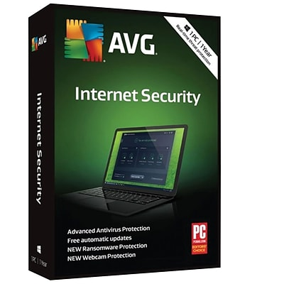 AVG Internet Security 2018, 1 PC 1 Year for Windows (1 User) [Download]
