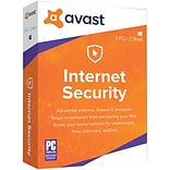 Avast Internet Security 2018, 3 PC 2 Year for Windows (1-3 Users) [Download]
