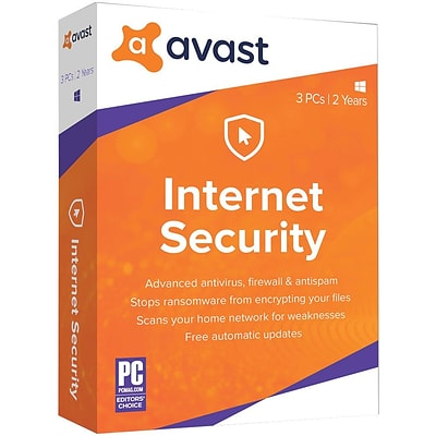 Avast Internet Security 2019, 3 PC 2 Year for Windows (1-3 Users) [Download]