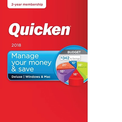 Quicken Deluxe 2018- 2 Year for Windows/Mac (1 User) [Download]