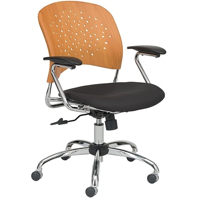 SAFCO® Reve™ Task Chair Round Plastic Wood Back; Natural