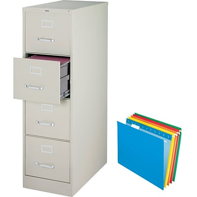 Buy A Quill Drawer Letter Size Vertical File Cabinet Light Grey - File cabinet size