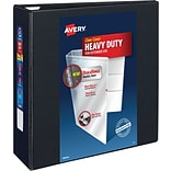 Avery Heavy-Duty View Binder with 4 One Touch EZD Rings, Black (79604)