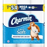 Charmin® Ultra Soft™ Toilet Paper, 2-Ply, 326 Sheets/Roll, 48 Mega Rolls/Carton (59843)