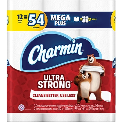 Charmin Ultra Strong 2-Ply Toilet Paper, White, 352 Sheets/Roll, 48 Mega Plus Rolls/Carton (99549)