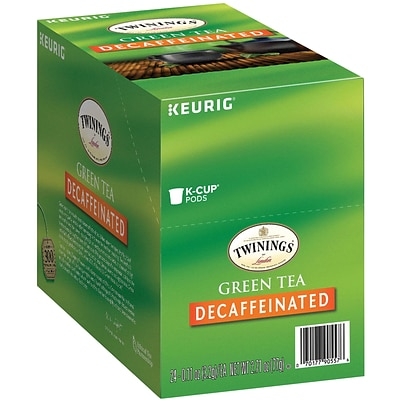 Twinings® Green Decaf Tea, Keurig® K-Cup® Pods, Decaffeinated, 24/Box (F12972)