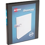 Avery Economy Showcase View Binder with 1/2 Round Ring, Black (19550)
