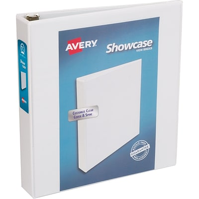 Avery Economy Showcase View Binder with 1-1/2 Round Ring, White (19701)