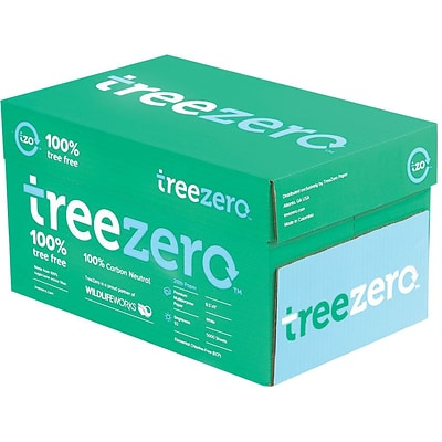TreeZero TreeFree Multipurpose Paper, 8.5 x 11, 20 lbs., White, 5000 Sheets/Carton (228007534)