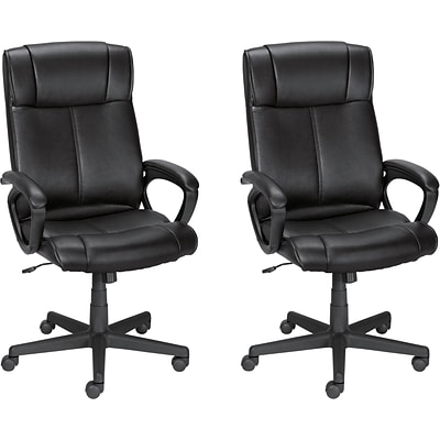 BOGO Quill Brand® Turcotte Luxura® High Back Managers Chair, Black