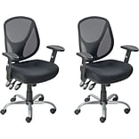 BOGO Quill Acadia Ergonomic Mesh Mid-Back Office Chair with Arms, Black