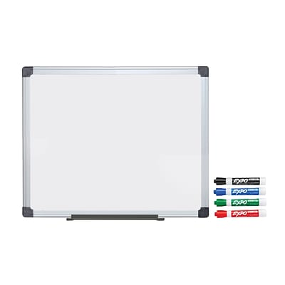 Buy A Quill Value Melamine Dry Erase Board & Get A Dry Erase Marker 4-Color Set FREE