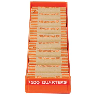 MMF Industries™ Porta-Count® Single Roll Coin Storage Tray, Orange