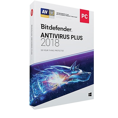 Bitdefender Antivirus Plus 2018 3 Users 2 Year for Windows (1-3 Users) [Download]