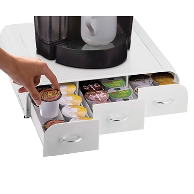 Mind Reader Anchor Coffee Pod Storage Drawer For 36 K-Cup, White (TRY3PC-WHT)