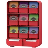 Mind Reader Baggy 9- Drawer Tea Bag and Accessory Holder, Red (TBORG-RED)