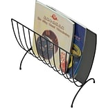Mind Reader Magazine Wire Rack, Black, (MAGWIRE-BLK)